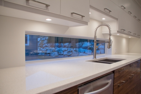 Modern Custom Home Squamish kitchen built by Balmoral Construction Whistler