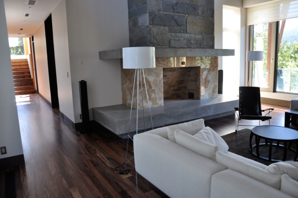 Whistler home renovations living room by Balmoral Construction